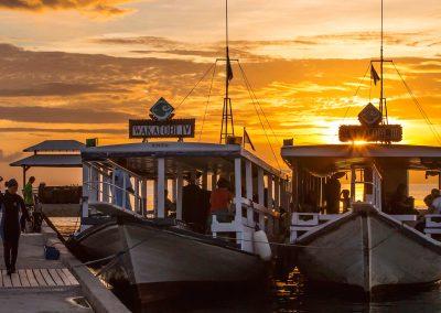 Wakatobi-dive-boats-sunset